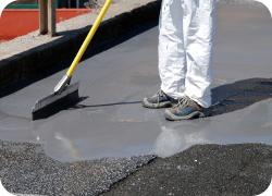 Oprava asfaltového chodníku